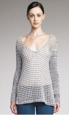 $72 Helmut Lang White Luminous Cord Sweater
