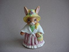 Sweet Lefton Cottage Chic Bunny Rabbit Ceramic by fleurzart