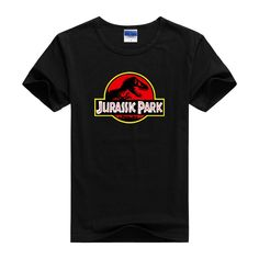 Jurassic Park Print Pattern T-Shirt For Men. #Mentshirt #ShopOnline #MehdiGinger