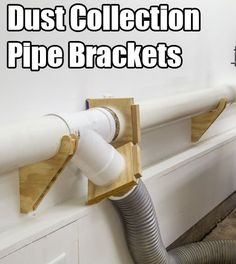 Dust Collection Pipes on Hanger Brackets