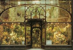 ink-heron:  Flower-shop, Brussels, designed by Paul Hankar, XIX century, art nouveau, (1896) – 13 rue Royale, Bruxelles