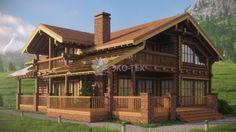 Эко-Тех: проект большого дома из бревна Леонардо двухэтажный 14 на 13