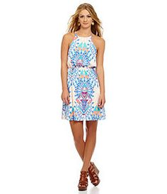 GB Medallion-Print Dress