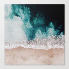 Buy Ocean (Drone Photography) Canvas Print by hunterofwoods. Worldwide shipping available at Society6.com. Just one of millions of high quality products available.