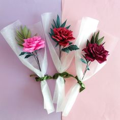 Nothing makes you feel more naked than someone identifying a desire you never knew you possessed. Bouquet Wrap, Gift Bouquet, Rose Bouquet, Crepe Paper Roses, Paper Flowers Diy, Flower Crafts, Single Flower Bouquet, Flower Box Gift, How To Wrap Flowers