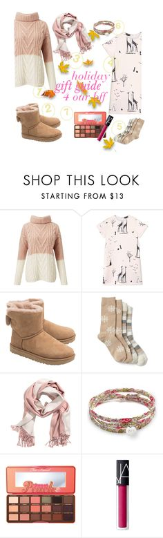 """""""#holiday #gift #guide"""" by fashiongarlx ❤ liked on Polyvore featuring interior, interiors, interior design, home, home decor, interior decorating, Miss Selfridge, Rochas, UGG and Gap"""