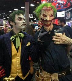 Character: Joker / From: DC Comics 'Batman' & 'Detective Comics' / Cosplayers: Anthony Misiano (aka Harley's Joker) as Joker & Alex Ward as New 52 Joker