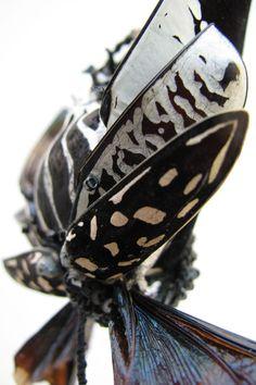 Emmanuelle Dupont - Chimères Textiles, Art Textile, Fiber Art, Fabric Design, Sculptures, Embroidery, Beetle, Contemporary, Drawing