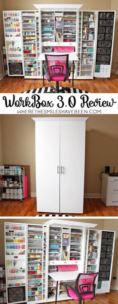 Thinking of buying a WorkBox 3.0 to store all of your craft supplies? Here's what you need to know before adding one to your craft room! My WorkBox 3.0 Review: The Good, The Bad, & The WTF?! | Where The Smiles Have Been #garden_crafts_room