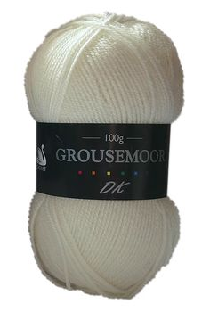 Grousemoor DK is a premium 25% wool yarn that is beautifully soft and available in a perfect range of shades. Cream.