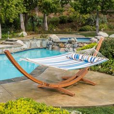 This canvas hammock comes complete with a larch wood frame so it can be set up anywhere you choose. Larch wood is highly valued for its durable and...