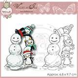 Whiff of Joy Rubber Stamp - Penguin Borthers Building a Snowman ...