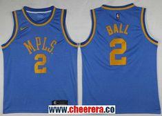 c9a742917 Men s Nike Los Angeles Lakers  2 Lonzo Ball Royal Blue NBA Swingman  Hardwood Classics Jersey
