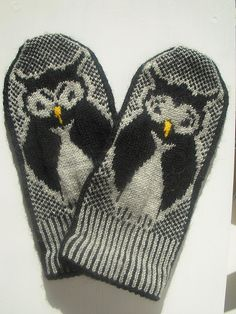 Moooody owl mittens by Anna-Karin Consoli