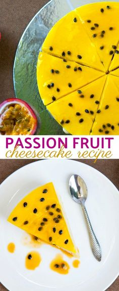This Tropical Passion Fruit Cheesecake Recipe Is A Sweet and Tangy Delight Love a good, creamy cheesecake recipe? We're coming through with this tropical passion fruit cheesecake recipe that is sweet, tangy, and oh so good! Creamy Cheesecake Recipe, Passionfruit Cheesecake, Passionfruit Recipes, Cheesecake Recipes, Dessert Recipes, Healthy Cheesecake, Cake Pops, Best Cheese, Fruit Tart