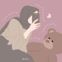 Cartoon Girl Images, Girl Cartoon, Hijab Drawing, Islamic Cartoon, Hijab Cartoon, Aesthetic Pastel Wallpaper, Anime Girl Cute, Cute Wallpapers, Art Girl