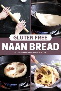 This Gluten Free Naan Bread is one of my most popular recipes! This easy recipe is made extra soft and tender with yogurt, eggs and a bit of butter or ghee in the dough. Make the dough ahead of time, and then fry it up in a pan in minutes! My recipe Gluten Free Cooking, Gluten Free Desserts, Dairy Free Recipes, Easy Recipes, Recipes Dinner, Gluten Free Breakfasts, Oven Recipes, Vegetarian Cooking, Easy Cooking