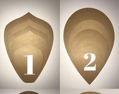 Plantilla de flor de copia papel flor plantilla - flores de papel DIY, papel