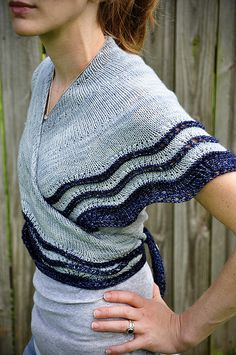 Whippoorwill shawl pattern by Carina Spencer. I like how it can be worn wrapped about the torso.