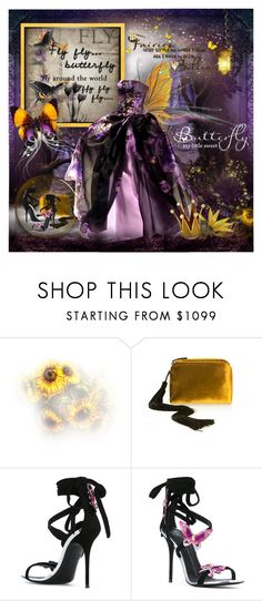 """""""Queen Of The Butterfly Fairies"""" by prettyasapicture ❤ liked on Polyvore featuring Zang Toi, The Row and Giuseppe Zanotti"""