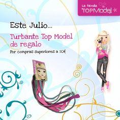¡En #julio #turbante #TopModel de #regalo por compras superiores a 50€!   #rebajas
