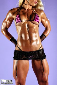 Hot pics of IFBB pro muscle girl Jill Rudison on www.ilovefemalemuscle.com!