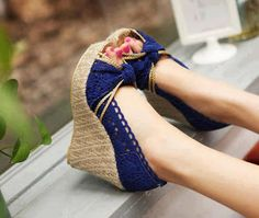 Shop Fashion Wool Wedge Heels Peep Toe Shoes on sale at Tidestore with trendy design and good price. Come and find more fashion Wedges here. Peep Toe Shoes, Peep Toe Wedges, Wedge Heels, High Heels, Heeled Sandals, Women's Shoes, Pretty Shoes, Beautiful Shoes, Cute Shoes