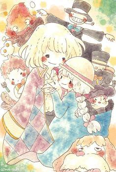 Howl's Moving Castle, Studio Ghibli Art, Studio Ghibli Movies, Hayao Miyazaki, Totoro, Personajes Studio Ghibli, Howl And Sophie, Japanese Animated Movies, Kawaii Wallpaper