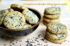 CNY cookies - black sesame cookies #chinesenewyear