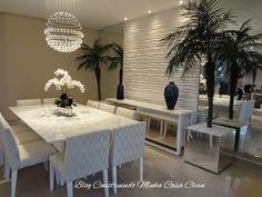 Inspire-se na Sala de Jantar! Decor, Modern Dining, Home N Decor, Dining Room Design, Home Decor, House Interior, Home Deco, Living Decor, Interior Deco