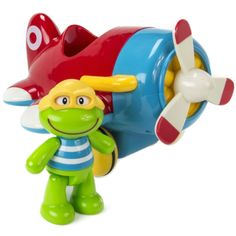 Frankie Frog & His Flying Machine - This friendly little frog and his fantastic flying machine are full of energy, motion, color and sound Toddler Toys, Baby Toys, Kids Toys, Toy Catalogs, Color, Childhood Toys, Children Toys, Colour, Colors
