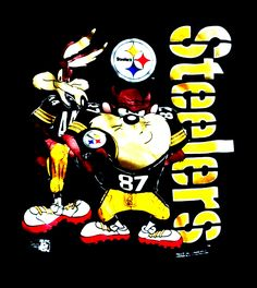 Pitsburgh Steelers, Pittsburgh Steelers Jerseys, Here We Go Steelers, Pittsburgh Penguins, Steelers Stuff, Cartoon Movie Characters, Iconic Characters, Buffalo Sabres, Steeler Nation