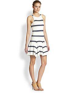 Alice + Olivia Barton Drop-Waist Striped Dress Polo Classic, Veuve Clicquot, Drop Waist, Saks Fifth Avenue, Alice Olivia, Striped Dress, Rompers, My Style, How To Wear