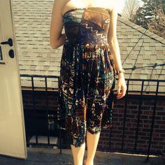 Von Vonni Tube Top Tribal Dress