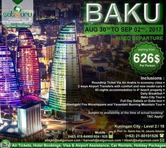 , 87 : Dapatkan kesempatan traveling ke Baku dengan harga paket terjangkau dan menyenangkan bersama kami. Pesan sekarang juga! -------------------------- Dapatkan juga diskon / voucher dan promo khusus di bulan ini. -------------------------- Hubungi kami atau kunjungi: Kuningan City - Level 2 / 18  Jl. Prof. Dr. Satrio Kav.18 Jakarta.  Check our bio for details.  IG: @satgurutravel.id  FB: fb.com/satgurutravelsid ☎ 021-50101526 🌏www.satgurutravel.id **************** 👉Let's connect with…
