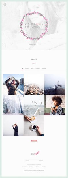 Wena - Watercolor Photography Portfolio Website Template #Bootstrapthemes