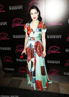 A niche market: Dita - who started her fashion and lingerie line Von Follies in 2012 - has...