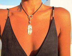y el collar, Y el collar, collar de plumas, y caída de collar lariat, Y collar de plata, Y collar, collar lariat, collar de lazo delicado, delicado Y collar de plata, plata Lariat, plata, collar de acodo Simple. Joyas de Bohemia minimalista. ¡Una joyería de la manera diaria!!!! collares para