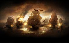 war ships cannons digital art 3d desktop hd wallpaper