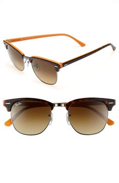 Love the Ray-Ban 'Classic Clubmaster' 51mm Sunglasses on Wantering | All Things Sports | mens sunglasses with 100% UV protection | sports | athletics | golf | running | menswear | mens style | mens fashion | wantering http://www.wantering.com/mens-clothing-item/ray-ban-classic-clubmaster-51mm-sunglasses/aaWzQ/
