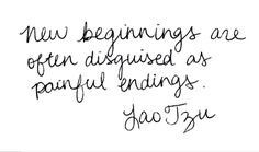 Positive Jess thinks: perhaps painful endings are in disguise of new beginnings! :)