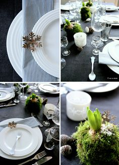 Therese Knutsen | GOD JUL!.... og tips til borddekking... - Therese Knutsen Christmas Table Settings, Christmas Table Decorations, Diy Christmas Gifts, Dessert For Two, Thanksgiving Tablescapes, White Dishes, White Candles, Smoking Meat, Table Centerpieces