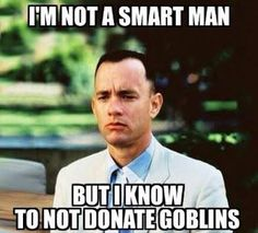 Do not donate goblins - Clash of Clans