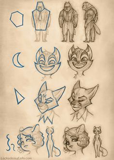 A great read about the process of developing style and characters #characterdesign #illustration #drawing