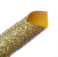 24K Gold Lux Premium Chunky Glitter Fabric