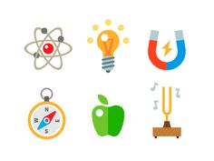 Dribbble - Physics icon set by Oleg Beresnev All Icon, Icon Set, Badge Icon, March For Science, Pictogram, Planner Stickers, Icon Design, Physics, Yearbook Theme