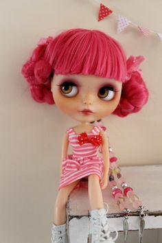 Frenchie a custom factory Blythe doll