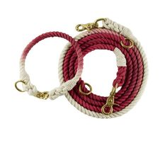 Collar and leash for dogs in the ombre style rope  by Naturleine