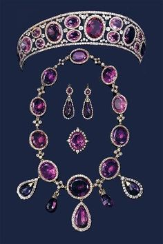 Amethyst parure, formerly the property of Queen Mary. http://amzn.to/2svuIru