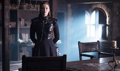 Sansa Stark (Sophie Turner) in Season 8 Episode Photo: HBO, via Express. Tyrion And Sansa, Cersei Lannister, Sansa Stark Costume, Liam Cunningham, Watchers On The Wall, Lyanna Mormont, Vanity Fair Italia, Game Of Thrones 3, Iron Throne